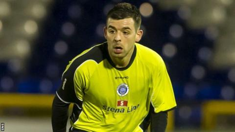 Stranraer midfielder Steven Bell