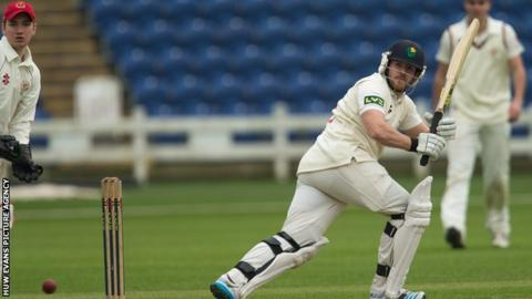 Will Bragg in action for Glamorgan