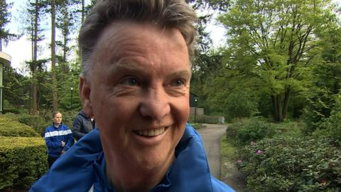 Louis Van Gaal says he 'would love' Manchester United job