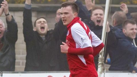 Stirling scorer David Weatherston