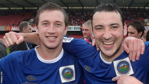 Mark McAllister and Michael Gault are among more players released by new Linfield manager Warren Feeney
