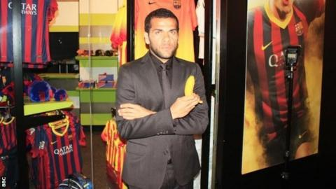 Dani Alves with banana