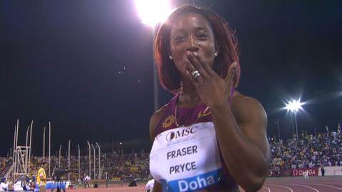 Diamond League: Shelly-Ann Fraser-Pryce wins 100m in Doha
