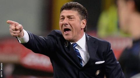 Inter Milan coach Walter Mazzarri