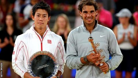Kei Nishikori and Rafael Nadal