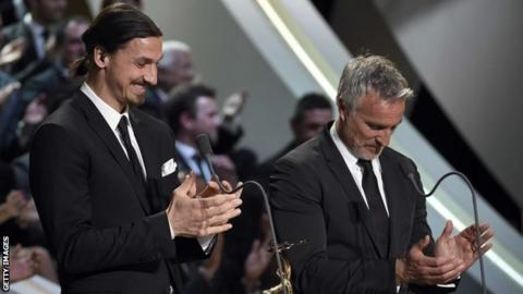 Zlatan Ibrahimovic and David Ginola