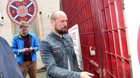 Jamie Hamill leaves Tynecastle