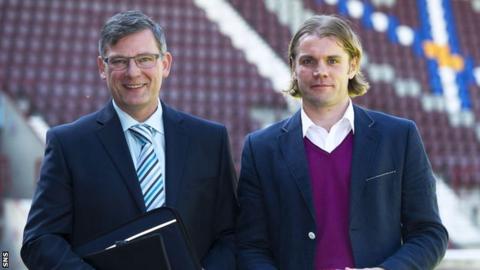 Hearts' new director of football Craig Levein and head coach Robbie Neilson