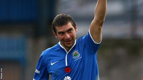 Matthew Tipton scored 20 goals in 52 appearances during his two season's with Linfield