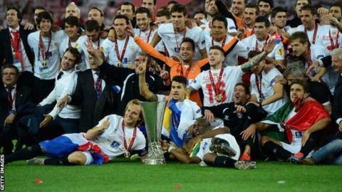 Sevilla celebrate