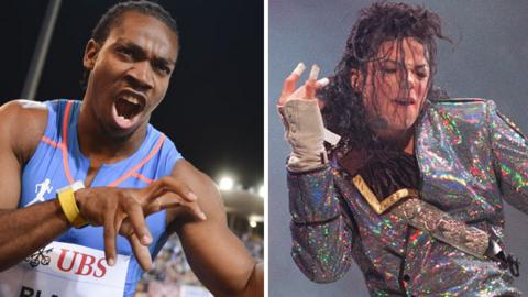 Yohan Blake and Michael Jackson