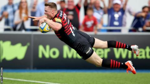 Chris Ashton scores for Harlequins