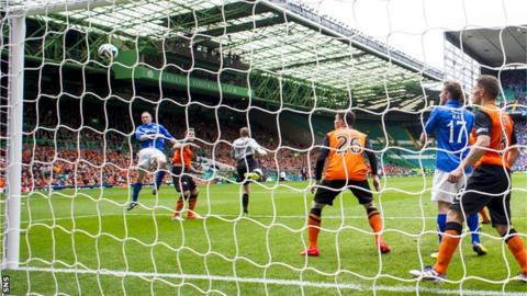 Steven Anderson scores for St Johnstone against Dundee United