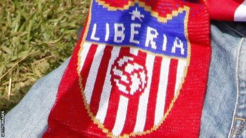A Liberia football scarf