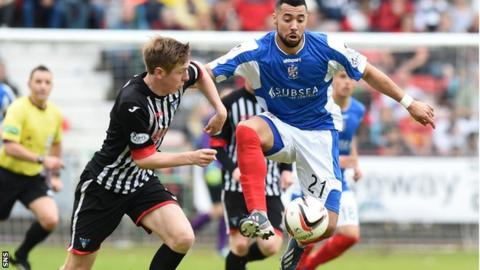 Kane Hemmings during the play-off final