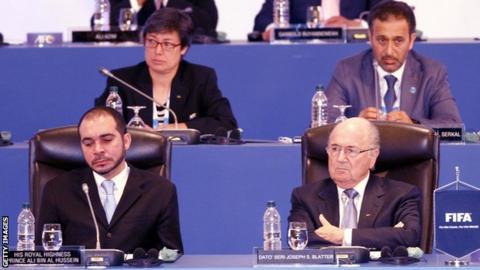 Moya Dodd (top left) AFC Vice-President from Australia, Yousuf Yaqoob Yousuf Al Serkal AFC Vice-President from UAE, HRH Prince Ali Bin Al Hussein.