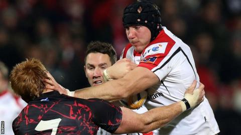 Stephen Ferris in action for Ulster