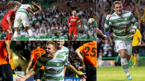 Georgios Samaras, Kris Commons and James Forrest