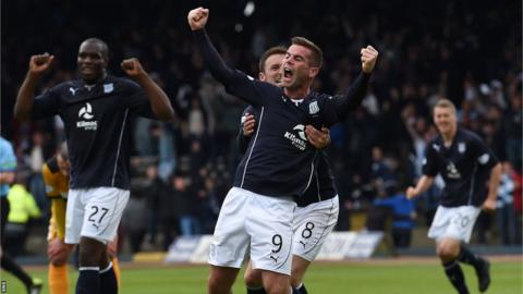 Dundee players celebrating