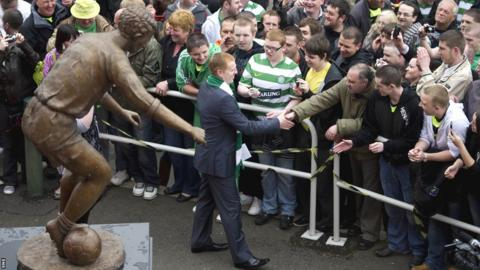 Neil Lennon meets the Celtic fans on becoming manager