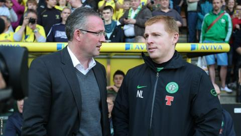 Paul Lambert and Neil Lennon
