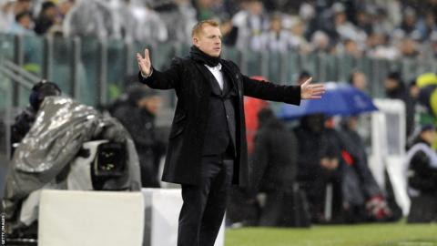 Neil Lennon in Turin