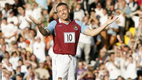 Bellamy playing for West Ham in the 07/08 season