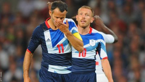 Bellamy with Giggs at London 2012
