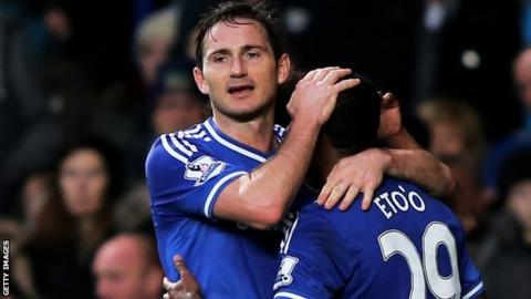 Frank Lampard and Samuel Eto'o