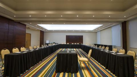The conference room at the Royal Tulip Hotel