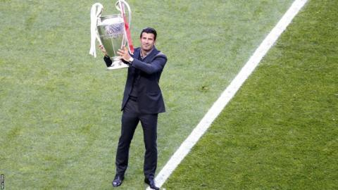 Luis Figo before Champions League final