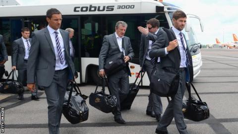 England depart for Miami