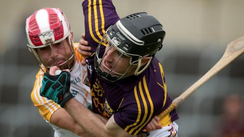 Ciaran Johnson ensures there is no escape for Wexford opponent PJ Nolan
