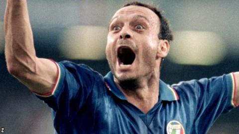 Italy striker Salvatore Schillaci