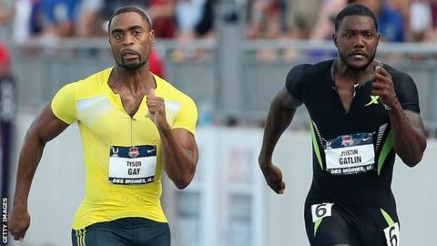 Tyson Gay and Justin Gatlin