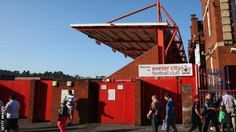 Exeter City's St James Park ground