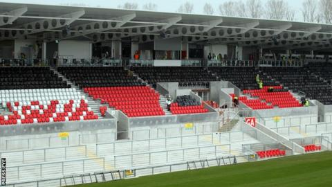 One of the new stands at the redeveloped Ravenhill