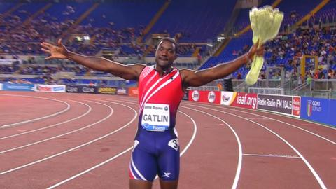 Justin Gatlin wins Rome Diamond League 100m