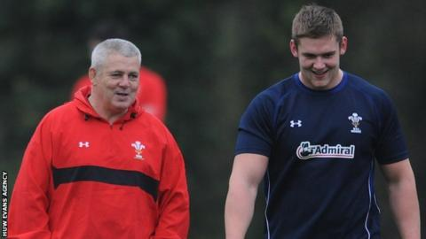 Warren Gatland and Dan Lydiate