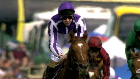 2014 Epsom Derby winning jockey Joseph O'Brien on the horse Australia