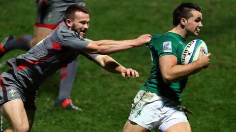 Wales U20s go down 21-35 to Ireland in rugby's Junior World Championship in New Zealand.