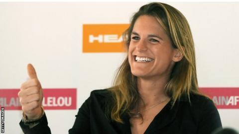 Tennis coach Amelie Mauresmo