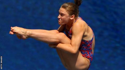 British diver Alicia Blagg in action