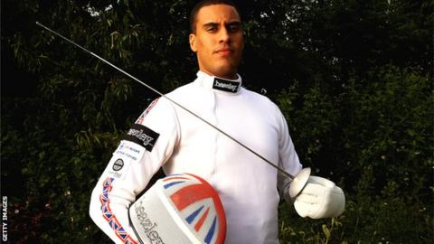 British Olympic fencer James Davis