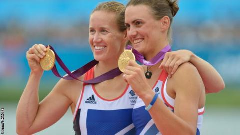 Helen Glover (l) and Heather Stanning (r)