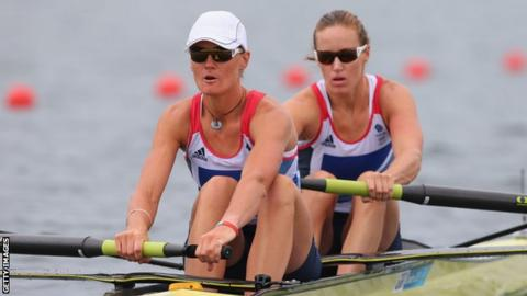 Heather Stanning (left) and Helen Glover