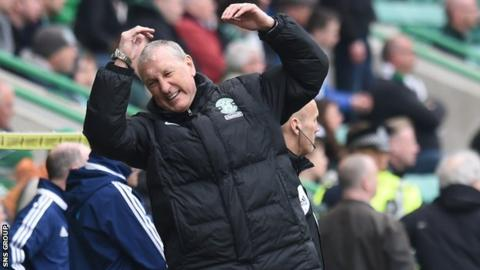 Terry Butcher won just six of the 29 games he was in charge of with Hibs