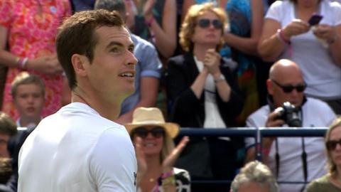 Queen's 2014: Andy Murray wins on grass v Paul Henri-Mathieu
