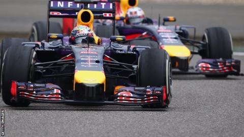 Red Bull team: Sebastian Vettel and Daniel Ricciardo