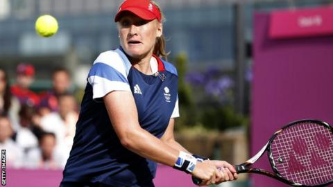 Elena Baltacha at the London 2012 Olympics